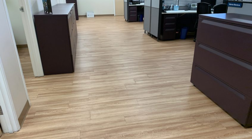 Vinyl flooring office upgrade